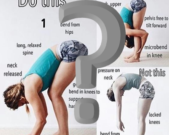 Uttanasana: To Bend the Knees or to Not Bend the Knees?